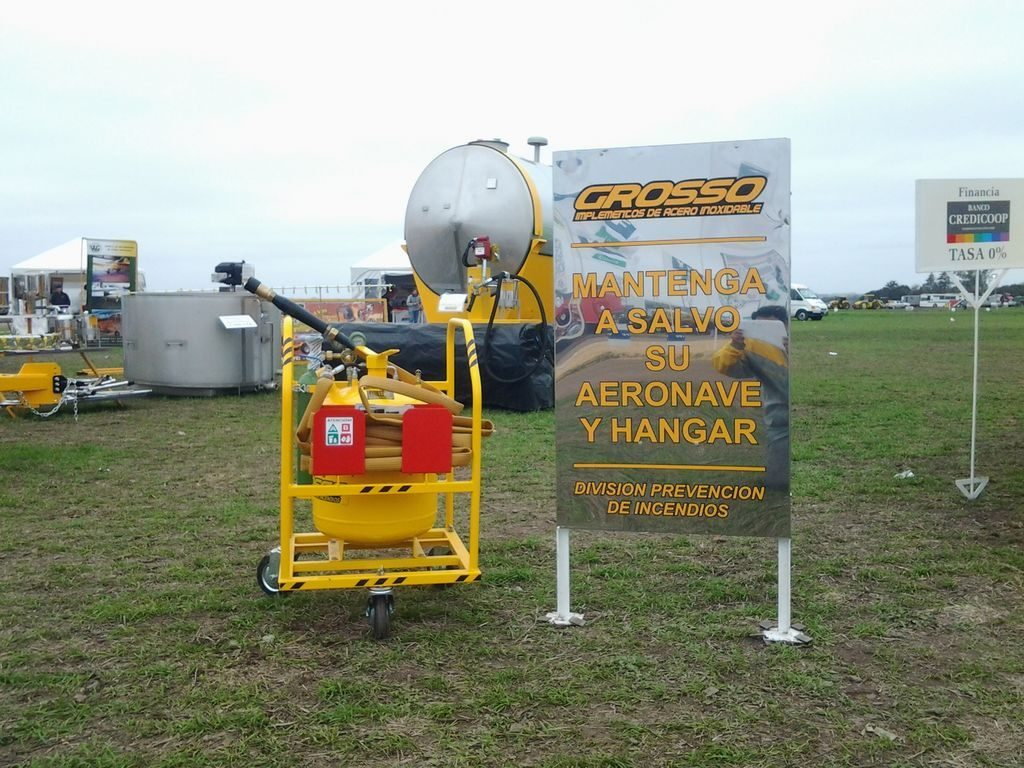 Fire Trailer- Foam Prevents Combine and Equipment Fires