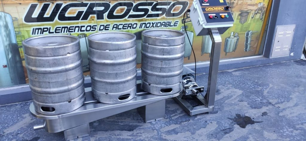 Washer and rinser of semi-automatic beer barrels (1)