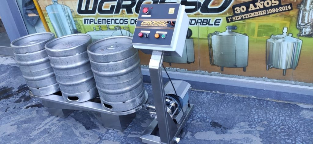 Washer and rinser of semi-automatic beer barrels (3)